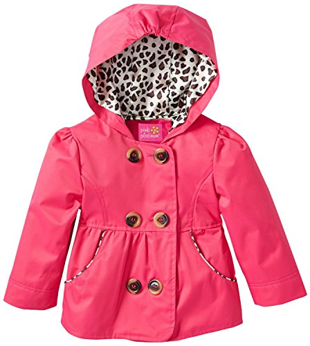 Pink Platinum Baby Girls' Emma Spring Jacket Double Breasted Trench Coat, Fuchsia, 18 Months