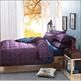 WRAP 100% PREMIUM QUALITY REVERSIBLE DOUBLE BED 4PC COMFORTER SET SMC-07