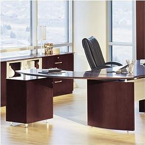 Amazon Com Mayline Nrtpr Napoli Curved Office Desk
