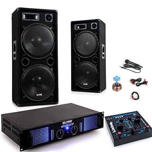 Mixer del sistema 2400W PA festa Karaoke amp altoparlanti cavo del microfono USB MP3 DJ-279