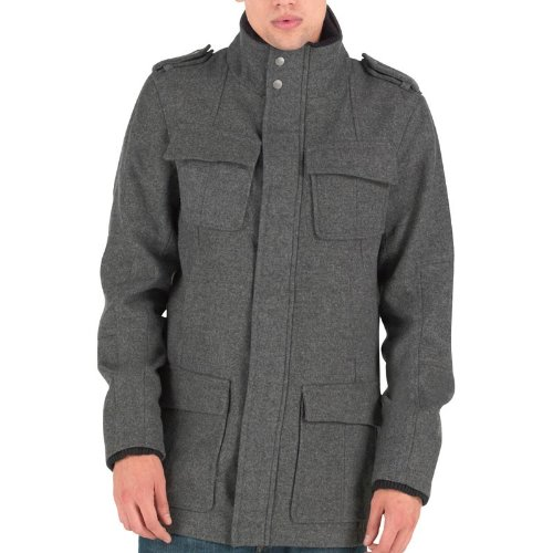 Firetrap Mens Blake Wool Coat Grey