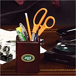 New York Jets Team Walnut Pencil Holder NFL Football Fan Shop Sports Team Merchandise