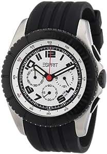 Esprit - 4442458 - Montre Homme - Quartz Chronographe - Bracelet Caoutchouc Noir