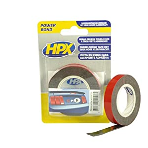 HPX MHSA024 Double Sided Adhesive Tape, 12 mm x 2 m