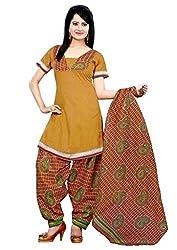 Krisha Womens Cotton Salwar Unstitched Dress Material (P1-106 _Green)