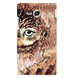 Printvisa Brown Owl Back Case Cover for Sony Xperia SP::Sony Xperia SP M35h