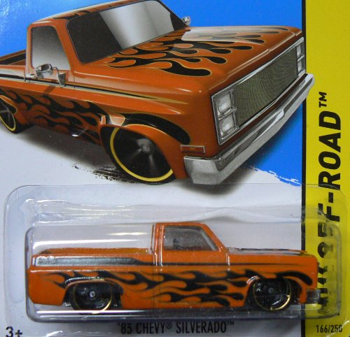 Hot Wheels HW Off-Road 166/250 Orange and Black '83 Chevy Silverado