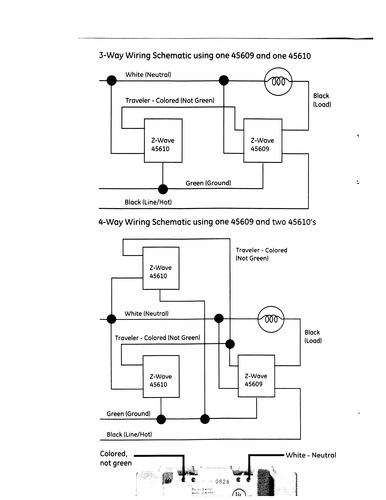 Ge z wave way switch wiring diagram