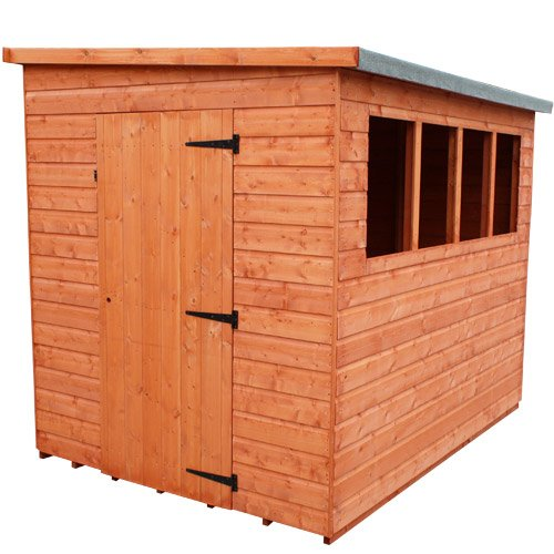 Woodlands Lean-to Pent Shed : Size - 12 X 8
