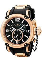 Invicta Men's Russian Diver Quartz Chronograph Retrograde Rubber Strap Watch 5669