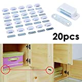 JJOnlineStore - 20Pcs Heavy Duty Magnetic Cupboard Door Catch Strong White Door Cabinet Latch 6KG
