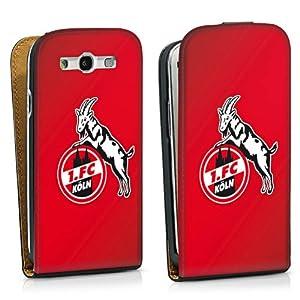 Handy Design Tasche Hülle Case für 1. FC Köln rot Galaxy S3 - DesignTasche Downflip black - Samsung