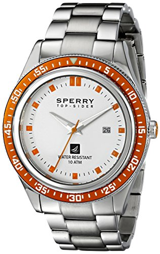 Sperry Top-Sider Men'S 10008950 Navigator Analog Display Japanese Quartz Silver Watch