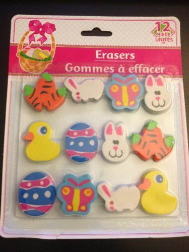 Easter Themed Erasers Pack of 12