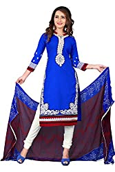 Blue Designer Dress Material