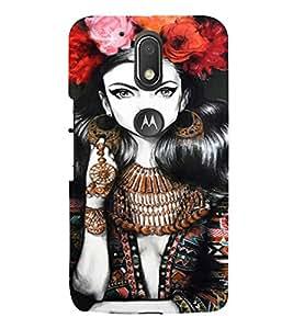 PrintVisa Beautiful Girl Art 3D Hard Polycarbonate Designer Back Case Cover for Motorola Moto G4 Plus