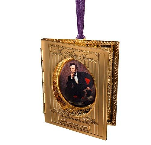 1999 White House Christmas Ornament, President Abraham Lincolns Portrait (White House Historical compare prices)