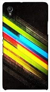 Great multicolor printed protective REBEL mobile back cover for Sony Xperia Z1 C6902/L39h D.No.N-L-10841-S39