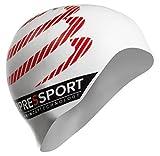 COMPRESSPORT (コンプレスポーツ) スイス発 ヨーロッパで絶大な人気ブランド シリコン スイムキャップ トライアスロン オープンウォーター (ホワイト) [並行輸入品]