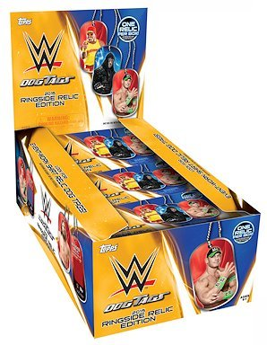 Amazon.com: 2015 Topps WWE 'Dog Tags' Wrestling Box (24 Pk ...