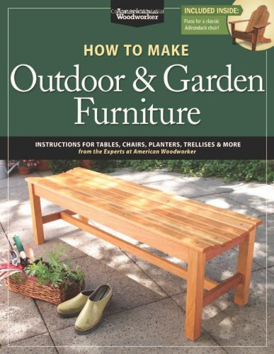 How to make outdoor garden furniture instructions for for Garden maker online
