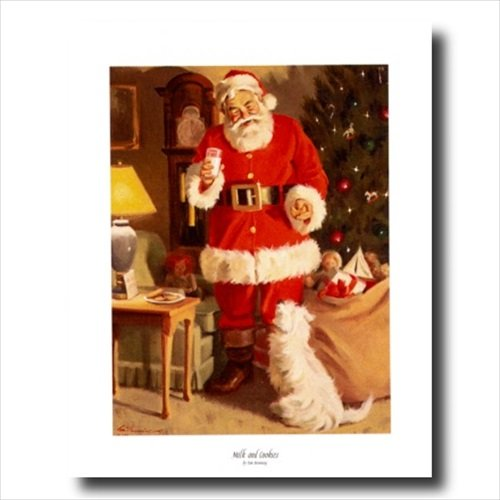 christmas posters and canvas art prints - Old St Nick Santa Clause Christmas Wall Picture Art Print #4