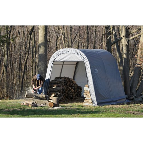 Images for ShelterLogic Round Style Storage Shed, 10 x10 x 8-Feet , Grey
