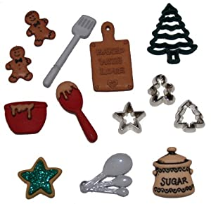Jesse James Dress It Up Holiday Collection Embellishments, Christmas Cookies