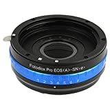 Fotodiox Pro Lens Mount Adapter with Built-in Aperture Iris - Canon EOS EF (NOT EF-S Lens) Lens to Sony E-Series System (NEX) Camera Adapter, Fits Alpha A7 II, a5100, Alpha 7, Sony NEX-3, NEX-5, NEX-5N, NEX-7, NEX-VG10 VG-10 Digital Video Camcorder