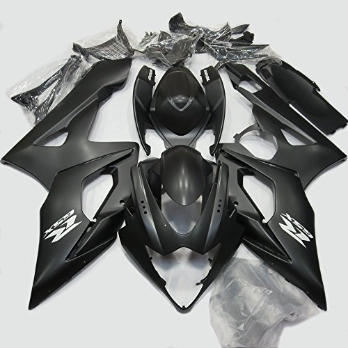ABS Injection Molding - Matt Black Painted with Graphic Fairing Kit for Suzuki GSXR 1000 K5 (2005-2006) (2006 Gsxr 1000 Seat Cowl compare prices)