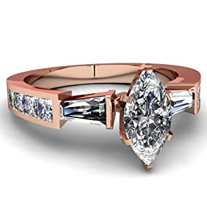 1.75 Ct Marquise Cut Diamond Three Stone Engagement Ring Channel Set SI2 IGI Certificate # S3H62500