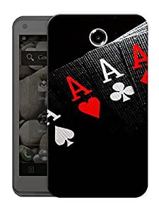 "All 4 Aces Printed Designer Mobile Back Cover For ""Lenovo S880"" By Humor Gang (3D, Matte Finish, Premium Quality, Protective Snap On Slim Hard Phone Case, Multi Color)"