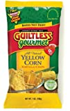 Guiltless Gourmet Yellow Corn Organic Baked Tortilla Chips, 7-Ounce Bags (Pack of 12)