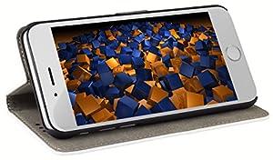 mumbi Tasche im Bookstyle für iPhone 6 (4.7 Zoll) Tasche weiss