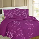 Bronze Leaf Duvet Cover Set, Plum, King Picture
