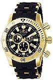 Invicta Herren-Armbanduhr XL Chronograph Quarz Kautschuk 0140