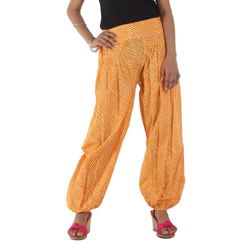 Srishti Fashion Printed Harem Pants Ladies Fashion Bottom  Yellow