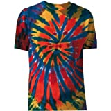 Tie Dye Mania Adult Tie-Dyed Short Sleeve Rainbow Cut-Spiral T-Shirt