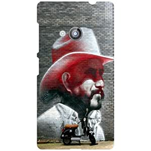 Nokia Lumia 535 Back Cover - Hatted Man Designer Cases