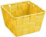 Acquista Wenko 21664100cesto Adria Mini giallo-Cestino quadrato, in plastica a intreccio, Polipropilene, 14x 9x 14cm