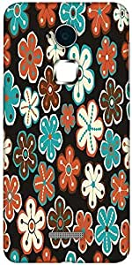 Snoogg seamless floral pattern flowers texture daisy Hard Back Case Cover Shield For Coolpad Note 3 (White, 16GB)