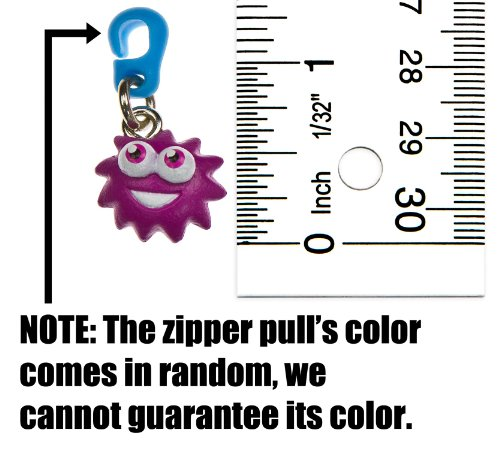 "Iggy ~0.6"" Mini-Figure Zippster: Moshi Monsters Zippster Series #1 (Random Zipper Pull Color) - 1"