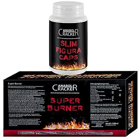 60 Kapseln Slim Figura, Diät Abnehmen Fettreduktion + 20 Flaschen Super Burner, L-Carnitin Koffein Aminosäuren