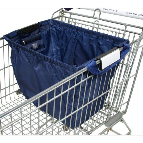 achille, Easy-Shopper norme sac pliable caddie avec pièce chariot et une petite poche intérieure pour la menue monnaie ou des clés