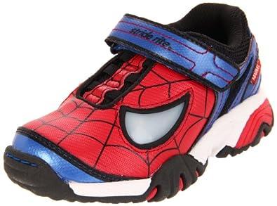 Stride Rite Spider-Man Lighted Sneaker (Toddler/Little Kid),Lighted Red,10.5 M US Little Kid