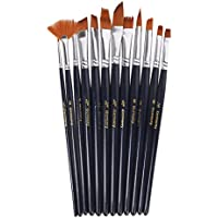 Generic 12 Assorted Size Artist Painting Brushes Set-15011626MG