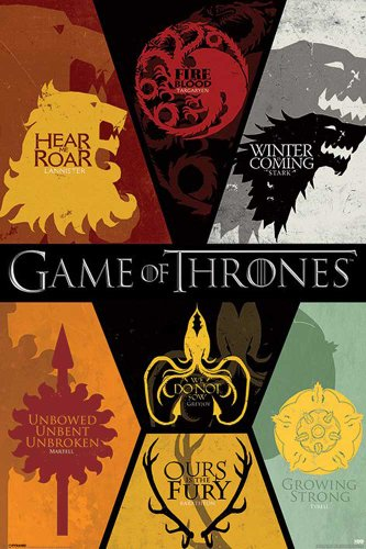 "Empire Interactive - Poster ""Game of Thrones, Sigilli"" con accessori multicolore"