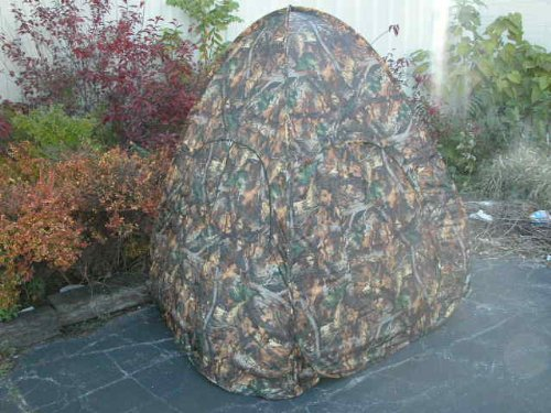 NEW POP-UP HUNTING BLIND - TWO MAN REAL TREE CAMO w BAG