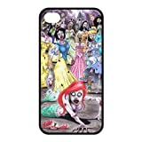 Funny Zombie Princess Little Mermaid Snow White Princess Printed Durable Rubber Iphone 4 4s Case