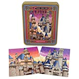 Disney Parks Castles Postcards Set in Golden Tin
